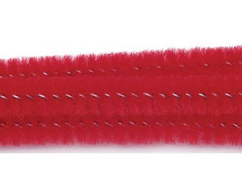 Chenille Stems - 6mm - Red - 12 inches - 100 pieces – 10166-30