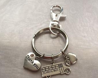 School bus driver keychain-appreciation/thank you