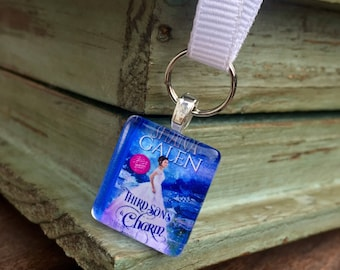 Book Cover or Logo Ribbon Bookmark Favors - For Giveaways, Book Signings, Promotional Items, Corporate Events or Book Clubs - 1 Image