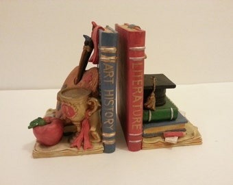 Art History Literature Bookends