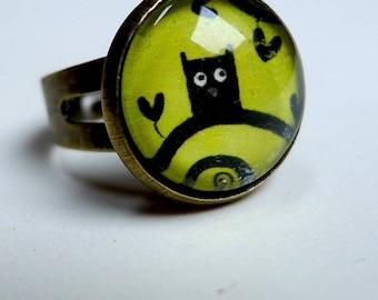 Ring, OWL green BA053