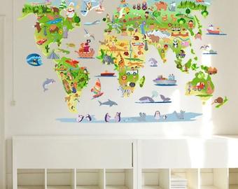 Mapamundi World Map wall sticker