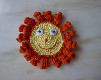 The Sun handmade in crochet cotton