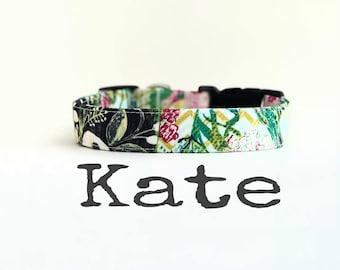 Collier de chien de petite fille, colliers de chien, la KaTe, collier de chien, joli collier pour chien, colliers de chien pour les filles, collier de chien Floral