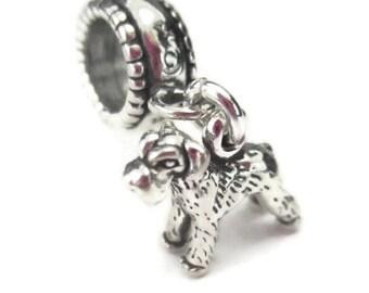 Schnauzer Charm Airedale European Bracelet Sterling Silver Dog Charm Bead Pet Memorial Gift