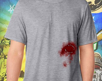 The Walking Dead / Carl Grimes / Zombie Bite / Men's Zombie Gray Performance T-Shirt