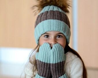 Toddler Hat for Winter Knit Hat Gift for Kids Pom Pom Hat for Baby Girl Hat Knit Baby Hat Baby Beanie Hats for Girls Toddler Birthday