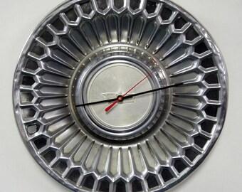 1977 - 1979 Chevrolet Caprice Hubcap Wall Clock - 1978 Chevy Car Decor - Unique Wall Clock