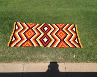 Lightning Design Navajo Crochet Pattern