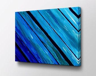 Abstract Art - Canvas Wall Decor - Modern Wall Art - Original design by Epik - Mid Century Modern - Blue Waves