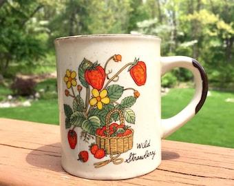 Vintage Wild Strawberry Mug