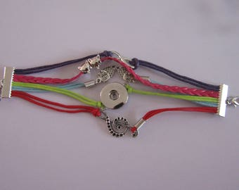 multicolor 18mm / 20mm snap bracelet