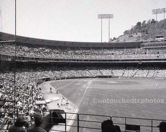 Candlestick Park Photograph - Black and White - Unique, One and Only Including 5x7 Magnet Option