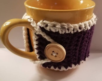 Coffee Cup Cozy, Crochet Handmade, Custom Gift, Coffee and Tea lovers