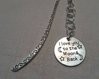 Bookmark; Moon bookmark; Shephard's hook bookmark