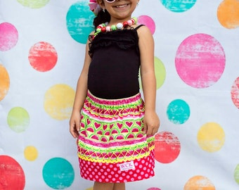 I Love Watermelons  Skirt  (12 mos, 18 mos,24 mos,  2T,  3T, 4T, 5, 6, 7)