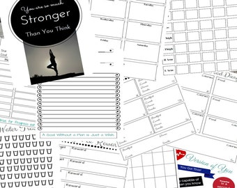 Printable Weight Loss Binder,  Health Binder, Health Checklist, Weight Loss Binder, Printable Get In Shape Binder, Instant Digital Download