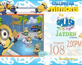 Minion Pool Birthday Bash Invitation!