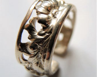 Vine ring, from own workshop, 925 sterling silver