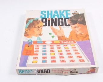Vintage Shake Bingo Game Complete 1960s 1970s ~ The Pink Room ~ 160904