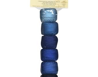 """Finca Perle Cotton Thread Size 8 """"Antique Sashiko"""" Sampler by Presencia - Six Colors, 10 Grams Each"""