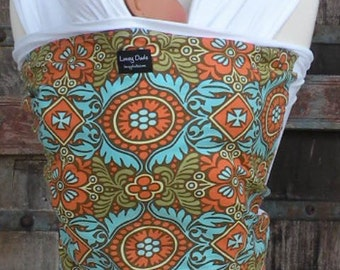 ORGANIC COTTON Baby Wrap Baby Sling Carrier-Kashmir -Newborn through Toddler- DvD Included