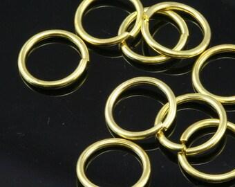 Open jump ring 50 pcs  15 mm 15 gauge( 1,5 mm ) raw brass (varnish) jumpring 1515JV-36 1178V
