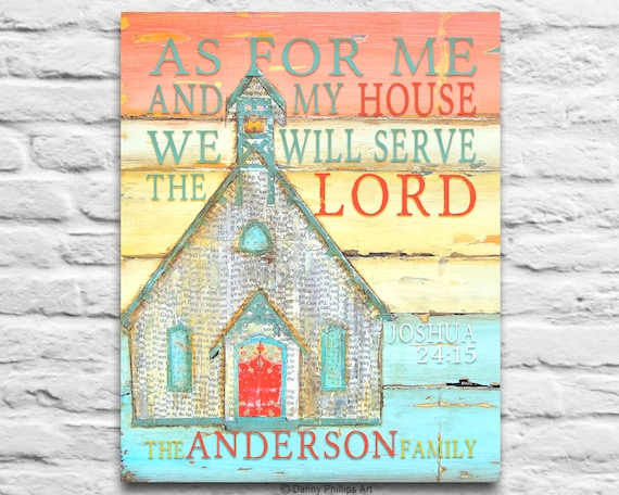CUSTOM DIGITAL DOWNLOAD you print As for Me and My House Joshua 24:15 Bible family wall home art decor church chapel printable,8x10 11x14
