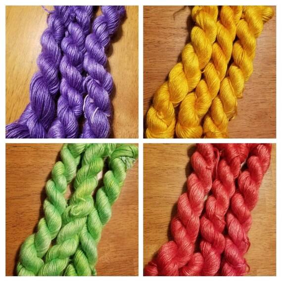 Spring Nothings... 60/40 Mohair/Silk Indie Dyed Yarn 50g 141m