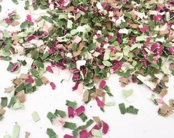 Boho Confetti | Neutral Confetti | Paper Shred Confetti | Recycled Confetti | Olive Green Confetti | Tribal Confetti | Green and Brown Confe