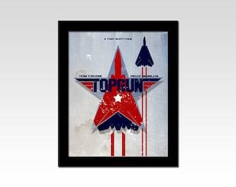 Top Gun inspired movie poster print