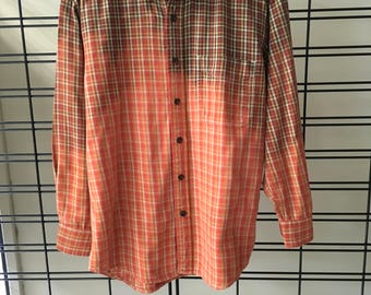Bleached men flannel shirt