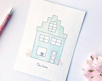 Postcard - New home