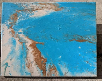 Turquoise - Pour Painting