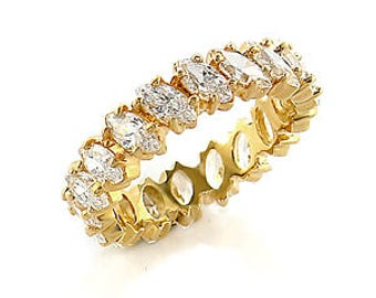 Ring - ref414509-gold plated - set CZ 360 degrees