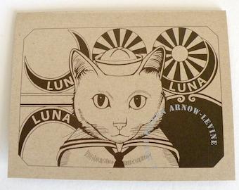 Harold The Cat At Coney Island, Blank Notecard