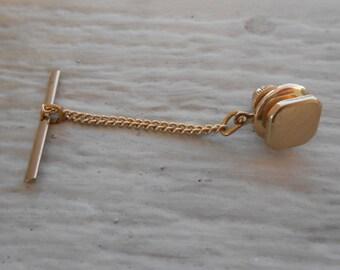 Vintage Gold Lapel Pin. Wedding, Dad, Groomsmen Gift, Birthday.