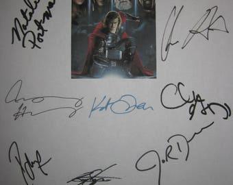 Thor Signed Film Movie Script Screenplay Autograph x14 Chris Hemsworth Natalie Portman Anthony Hopkins Tom Hiddleston Idris Elba Stan Lee