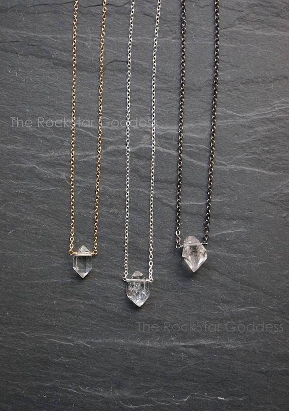 Herkimer diamond necklace herkimer diamond select diamond aloadofball Image collections