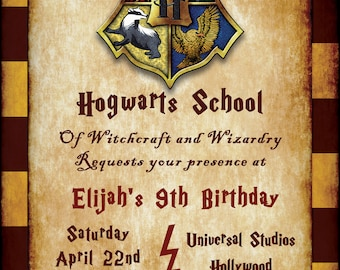 Harry Potter Birthday Invitation - Customized Digital Download