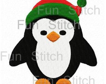 Weihnachts-Pinguin Maschine Stickerei zwei Baugrößen