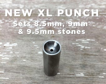 New and exclusive! XL single SmoothSet punch • Sets 8.5, 9, and 9.5mm stones • Made in Milwaukee!