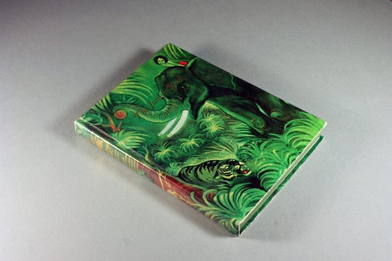 Children's Hardcover Book, The Jungle Book, Rudyard Kipling, Illustrated, Literature, Fiction, 1988
