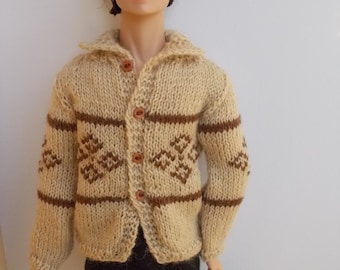 Handmade nordic cardigan for Ken, homme Fashion Royalty, available for any bjd size