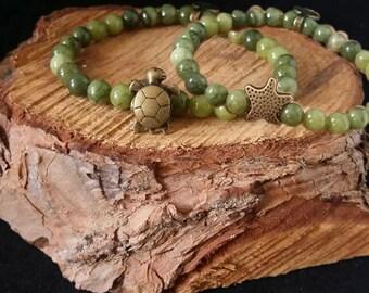 Pulsera náutica -- Nautical bracelet -- Pulsera hombre -- Pulsera jade