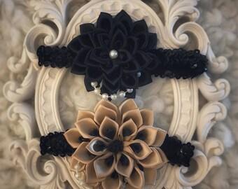Infant Vintage Satin Flower Headband