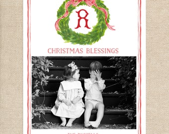 Christmas Blessings Watercolor Christmas Card