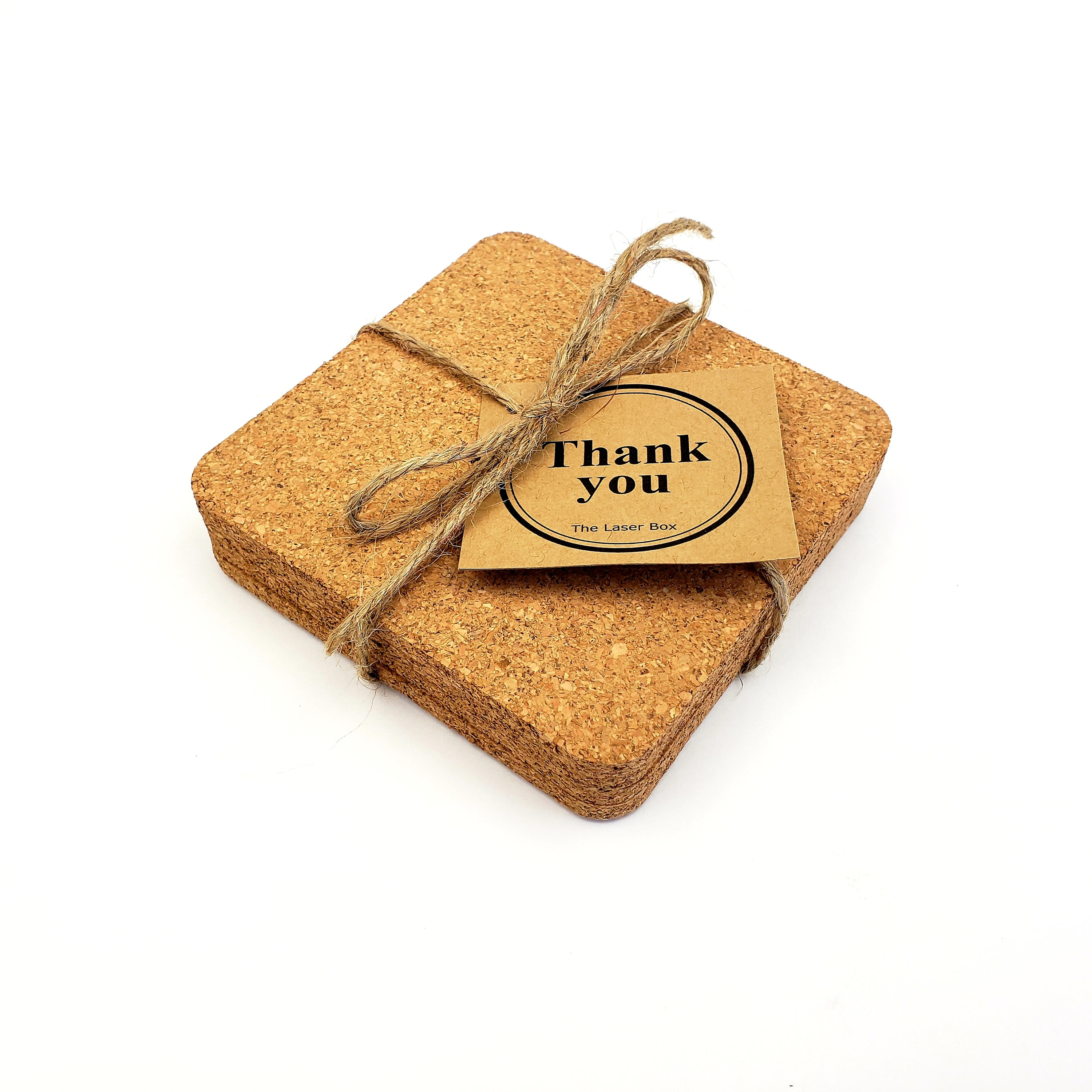 Personalized Cork Coasters - Monogrammed - Last Name - Name