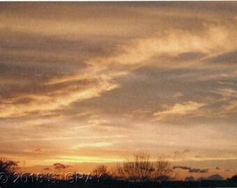 ACEO SFA Sunset Sky art photograph clouds landscape photo nature nitelvr