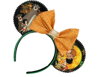 Jungle Book Inspired Mouse Ears | Mowgli Inspired Mouse Ears | Adventureland Mouse Ears | Mouse Ears Headband | Mouse Ears